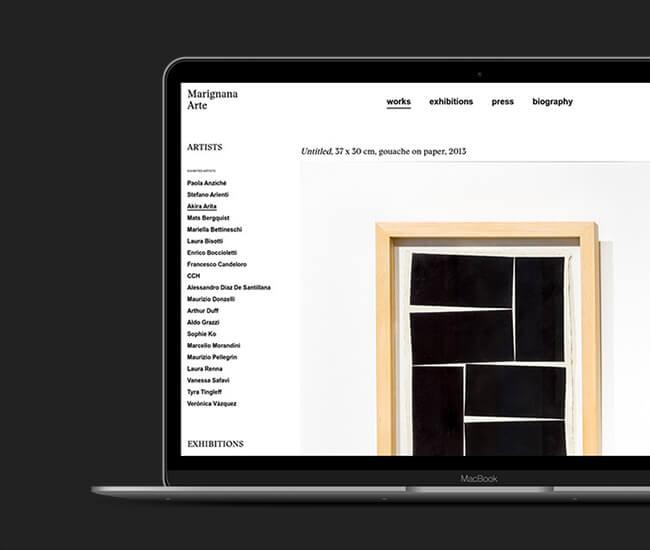 Realizzazione sito web settore arte moderna