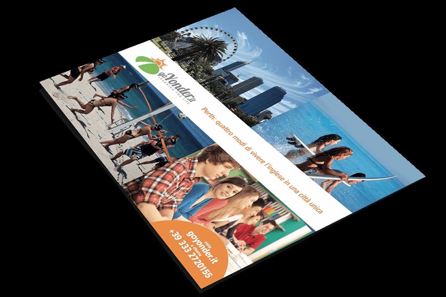 realizzazione grafica flyer pieghevoli e brochure